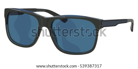 Sunglasses sports on a white background