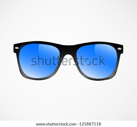 Sunglasses vector illustration background - stock vector