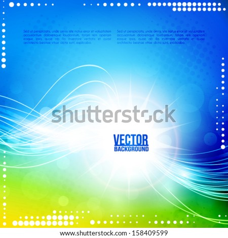 Sunlight. Abstract artistic background. Vector