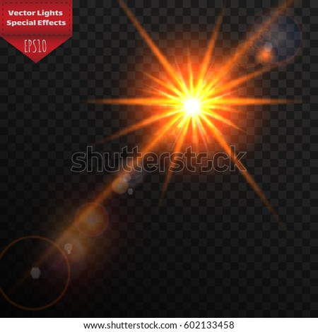 Sunlight Special Lens Flare Light Effect Sun Flash With Rays And Spotlight