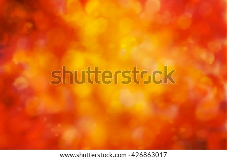 Sunny abstract autumn nature background, selective focus. Vector illustration