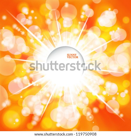 Sunny background. Vector. - stock vector