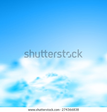 sunny natural background, easy editable - stock vector