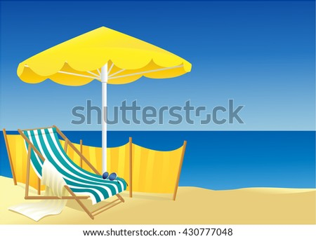 Sunny summer background  - stock vector