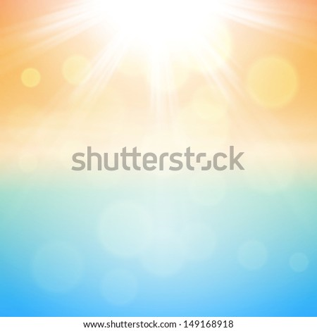 Sunny summer background. EPS10 vector.