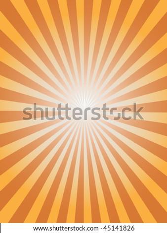 sunray background - stock vector