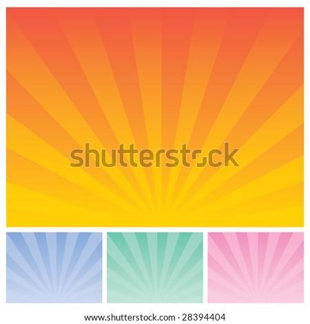 sunrise - stock vector