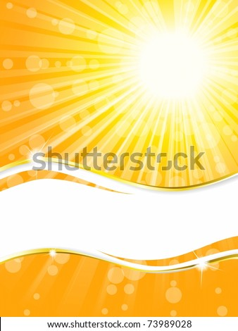 Sunshine banner with transparencies, vertical (EPS10); jpg version also available - stock vector