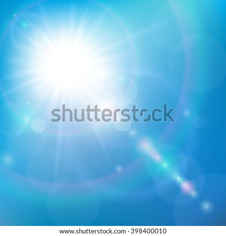 Sunshine in the Blue Sky - stock vector
