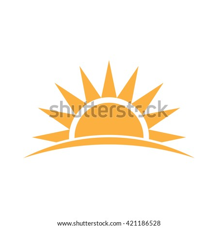 Sunshine logo. Vector graphic illustration  - stock vector
