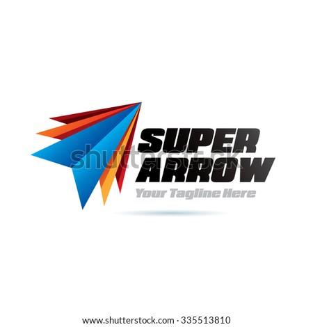 Super Arrows Icon Logo Element - stock vector