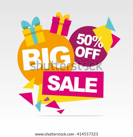 Super  Big sale banner. Vector banner.