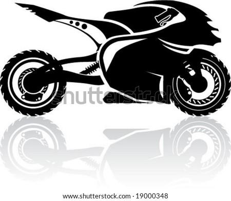 Super Bike silhouette - stock vector