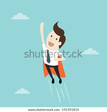 Super Businessman - stock vector