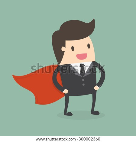 Super Businessman. Business concept illustration. - stock vector