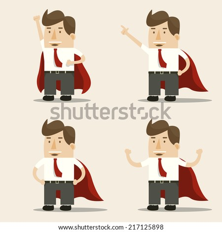 Super Businessman set - stock vector