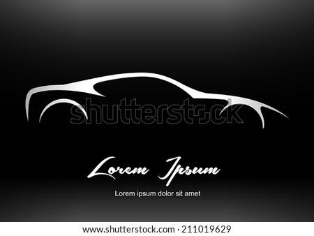 Super Car Silhouette Stock Vector Shutterstock