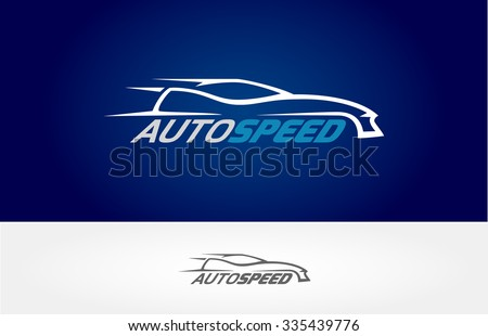 Super Car Silhouette Design Vector Logo Stock Vector