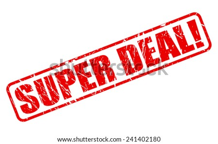 Super deal red stamp text on white - stock vector