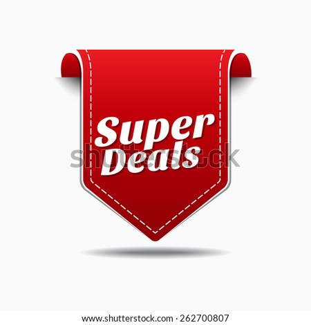Super Deals Red Vector Icon Design