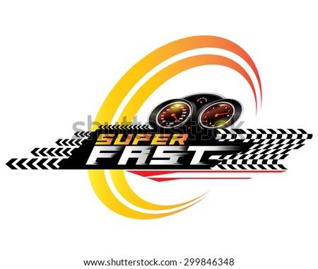 Super Fast concept design vector - stock vector