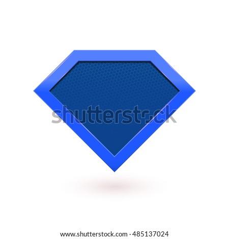 M Rank Super Hero Blue Shield Icon
