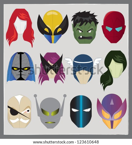 SUPER HERO MASK ICON. Editable vector illustration file. - stock vector