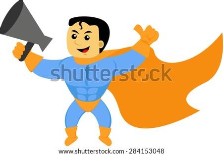 Super Hero Promotion - stock vector
