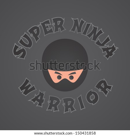 super ninja warrior theme - stock vector