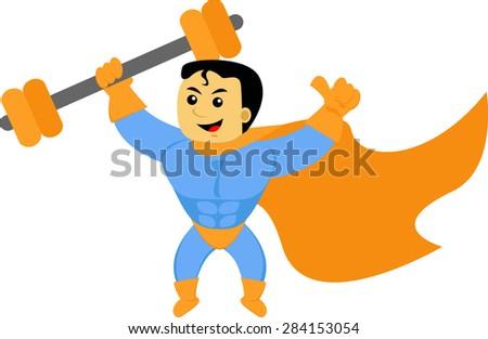 Super Power - stock vector
