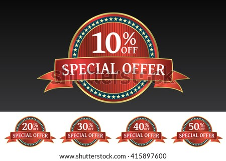 Super Sale and special offer tags - stock vector