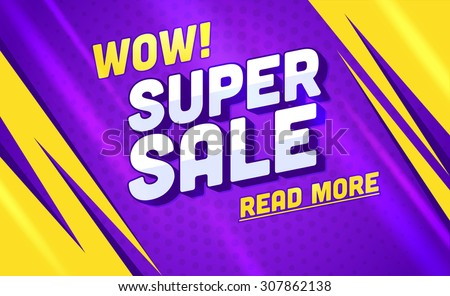 Super sale banner.Vector illustration - stock vector
