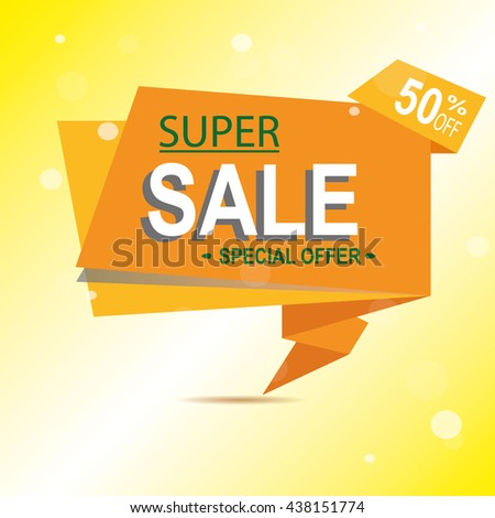Super Sale for clearance at 50% off! It's a hot deal sale poster & a colorful background. Wow! Special offer sale poster or flyer template for your marketing or ad campaigns. Also for retail sales!