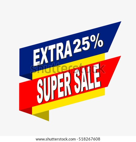 Super sale, paper banner, sale background, big sale,poster sale