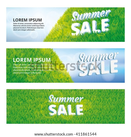 Super sale summer green grass background. Vector pattern, texture, for banners, logo, web, card, vip exclusive certificate, gift luxury voucher, design, spring sale logo welcome - stock vector