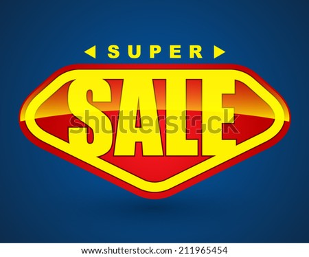 Super sale tag banner. can use for promotion. - stock vector