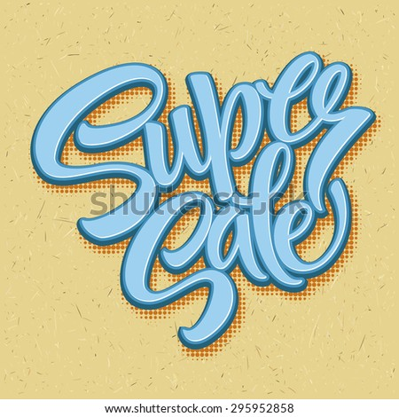 Super sale tag banner. Vector illustration EPS 10