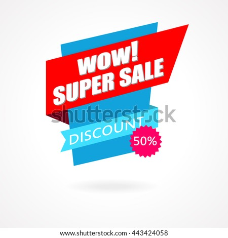 Super Sale Weekend special offer poster, banner background. Vector illustration
