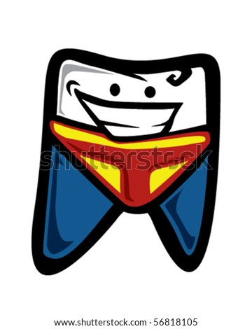 Super tooth - stock vector