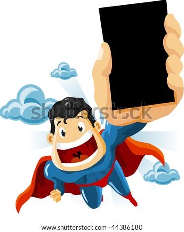 Superhero for Commercials. Detailed vector Illustration. - stock vector