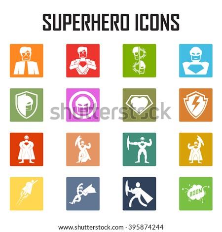 superhero  icon vector. - stock vector