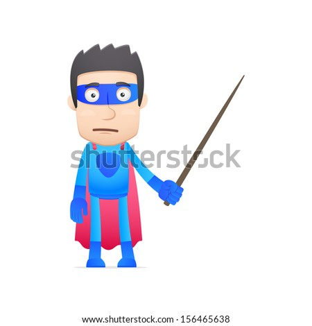 superhero in various poses for use in advertising, presentations, brochures, blogs, documents and forms, etc.