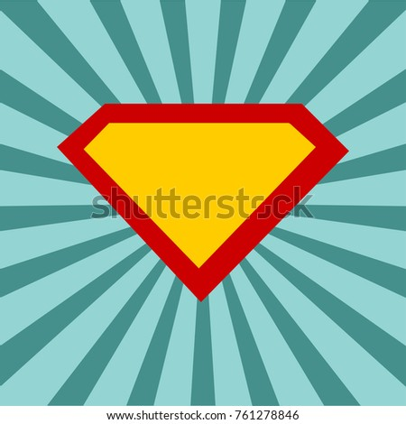 superhero logo template comic sunburst background stock vector