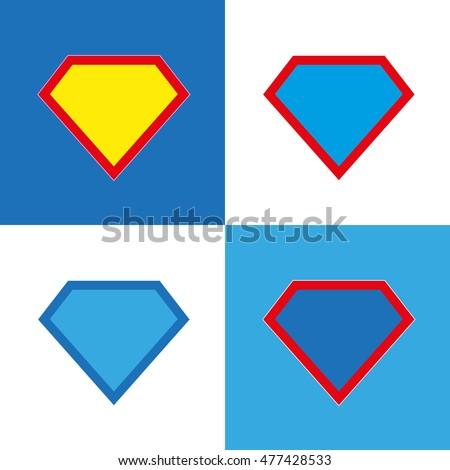 Superhero Logo Template Blank Super Hero Stock Vector HD (Royalty ...