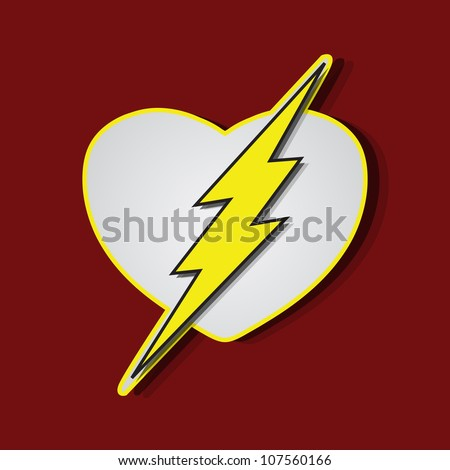 Superhero shields shaped like a hearts, symbol for strong love, eps10 vector