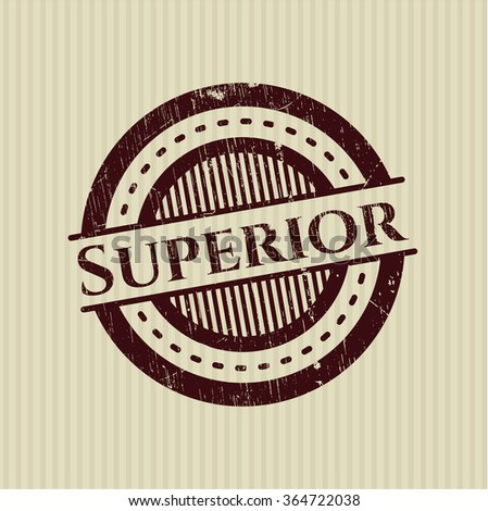 Superior rubber grunge texture seal - stock vector