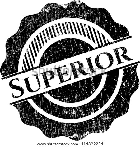 Superior with rubber seal texture - stock vector