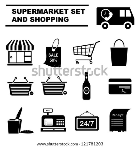 Consultant Invoice Template Free Store Receipt Stock Images Royaltyfree Images  Vectors  Cif Receipt Pdf with What Is The Invoice Number Excel Supermarket Icon Set And Shopping Set Plumber Invoice Template