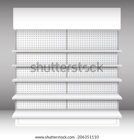 Supermarket shelf. Vector. illustration - stock vector