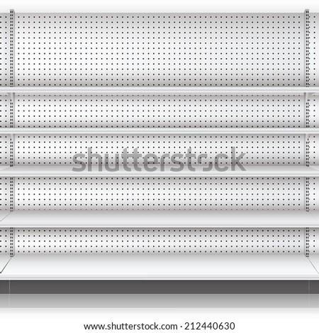 Supermarket shelf. Vector. illustration  - stock vector